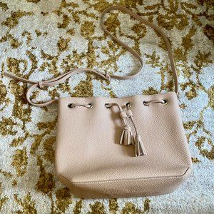 Old Navy Faux-Leather Bucket Bag in Nude